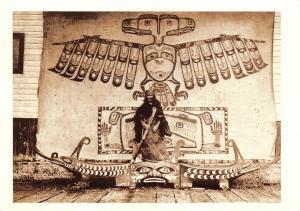 Postcard American Indian, Nakoaktok Mawihl by Edward Curtis #308