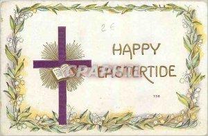 Old Postcard Happy Eastertide