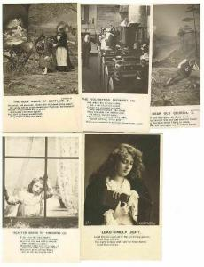 pc6463 postcard Poem Cards FIVE RPPC