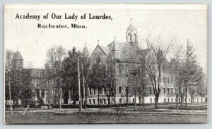 Rochester Minnesota~Academy of Our Lady of Lourdes~Lots of Trees in Front~c1910