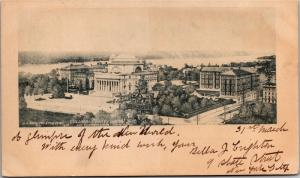View of Columbia University and Surroundings, Pre-1908 UDB Vintage Postcard L02