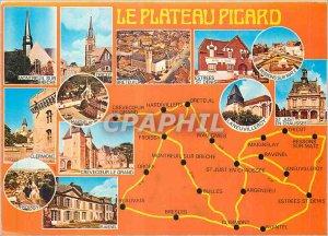 Postcard Modern Plateau Picard Oise Montreuil sur Breche Breteuil Estrees St ...