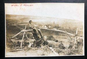 Mint Germany Real Picture Postcard PPC Artillery Machine Gun