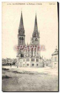 Old Postcard The Delivrande Basilica L & # 39Abside