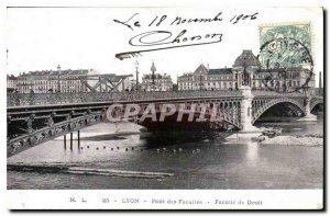 Postcard Lyon Old Bridge Faculties Faculty of Law