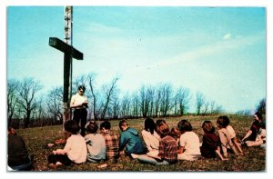 1950s/60s Agape Camp and Conference Center, Hickory, PA Postcard *6J12