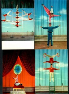 China Acrobatic Troupe complete 13 cards 1973 Shanghai