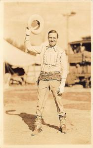 Gene Autry Movie Actor Cowboy Baseball MLB Team Owner Real Photo Postcard