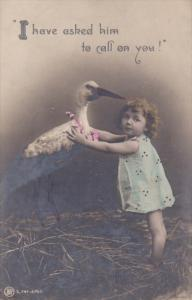 RP; Tinted, I have asked him to call on you!, Little girl talking ot Stork,...