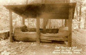 Early RPPC Old Tanning Vat Used by General Fremont, Santa Cruz Big Trees P12
