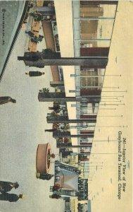 Aero Teich Chicago Illinois Greyhound Bus Terminal Interior 1954 Postcard 10673