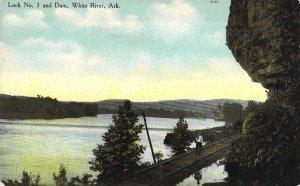 c.1907,Lock No.3 and Dam, White River, Arkansas, AR, Old Postcard