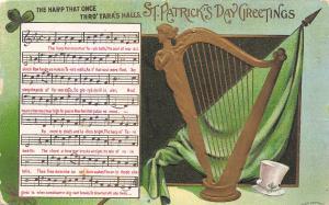 St Patrick's Day~Gold Lady Harp~Music Lyrics: Harp That Once Thro' Tara's Halls