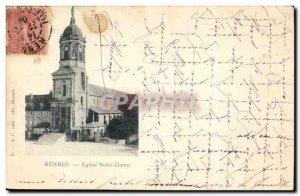 Rennes - Notre Dame Church - Old Postcard