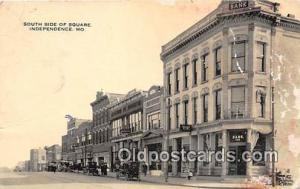 South Side of Square Independence, MO, USA Postcard Post Card Independence, M...