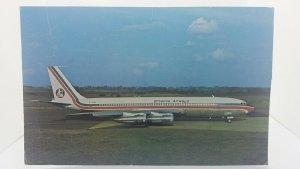 Vintage Postcard Britannia Airways Boeing 707 320C Long Range Jet Aircraft