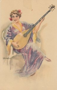 USABOL ; Woman & a lute , 1924