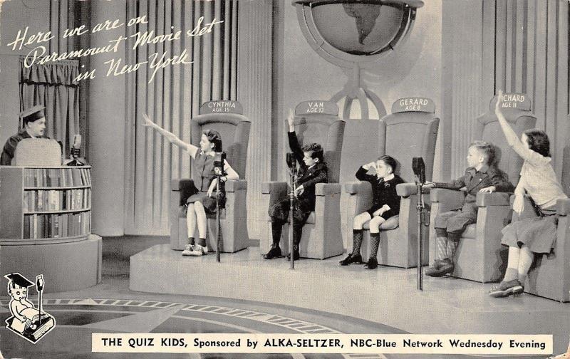 New York City~Paramount Movie Set~Quiz Kids~NBC~Gerard Stumped~Van Knows~1950