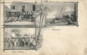 liberia, MONROVIA, Native Pessys, Yardboys, Kroos on Board Woermann Steamer 1905