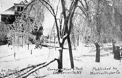 NY - Gloversville. Corner of Pine and Park. February 17, 1909 Ice Storm