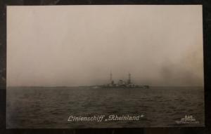 Mint WW 1 German Navy Real picture Battleship Rheinland