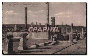 Postcard Ancient Roman ruins of Timgad Colonades Grandstands and the Forum sp...