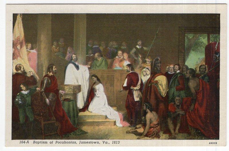 Jamestown, Va.1613, Baptism of Pocahontas