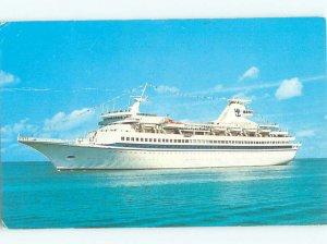 Damaged Back Pre-1980 BOAT SCENE Royal Caribbean Cruise Lines Ship Boat AF4397