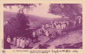 Morocco Moulay-Idris Sultan's Sons In Pilgrimage 1920-30s