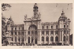 VALENCIA, Comunidad Valenciana, Spain, 1900-10´s; Palacio de Correos y Teleg...