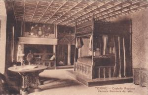 TORINO, Piedmont, Italy, 1900-1910's; Castello Feudale Camera Baronale Da Letto