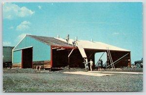 Morton Illinois~Interlocking Fence Co~Morton Buildings~Construction~1950s