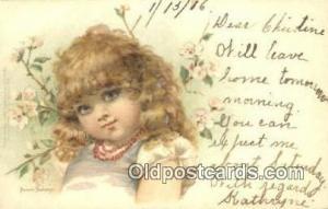 Artist Frances Brundage Postcard Post Card Old Vintage Antique  Artist France...
