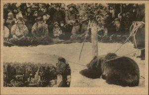Japan Hokkaido Ainu ? c1910 Postcard #2 BEAR