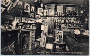 c1910s London England UK Postcard Interior, Charles Dickens OLD CURIOSITY SHOP