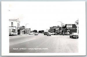 Sauk Rapids MN Elgin Watch Sign, Turch~Dairy Curl~Schwankl, Texaco RPPC 1940s PC