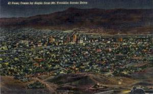 Texas By Night El Paso TX Unused