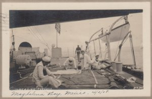 RP : Great White Fleet , Magdalena Bay , Mexico 4/3/08 ; Sailors on deck of w...