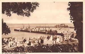 Guernsey St Peter Port Harbour Boats Bateaux Panorama