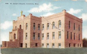D57/ Lewistown Montana Mt Postcard c1910 St Joseph's Hospital