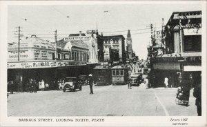 Perth Australia Barrack Street Looking South Railway Hotel Unused Postcard G84