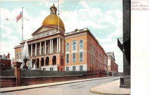 25615 MA, Boston, 1915, State House with water fountain in front, No. 2875