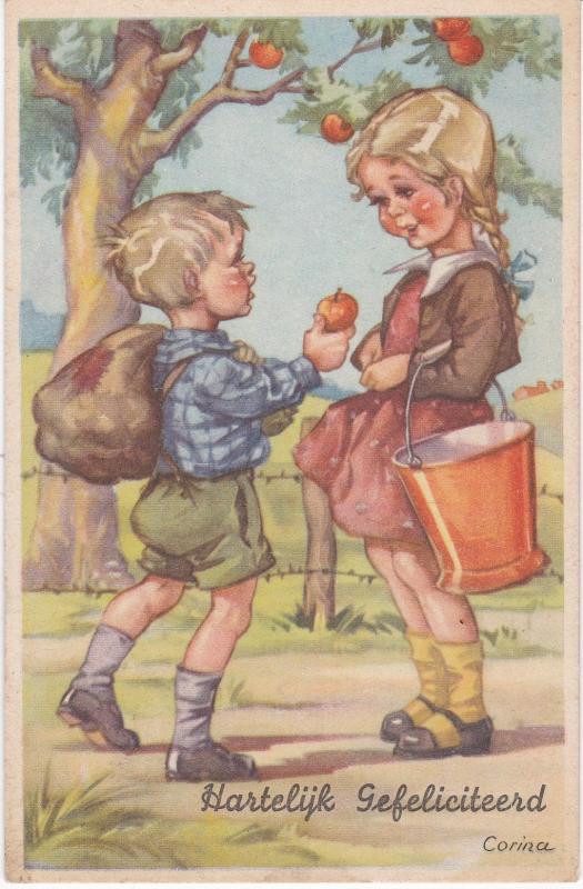 Post Card Greetings Hartelijk Gefeliciteerd  - Hearty Congratulations