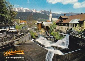 Austria Schladming Motiv am Wildromantischen Talbach