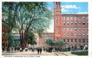 [ American Art ] US Massachusetts Lowell - Entrance To Merrimack Mills