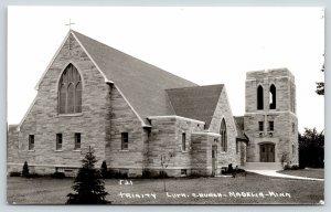 Madelia Minnesota~Trinity Lutheran Church~Two Entrances~1940s RPPC
