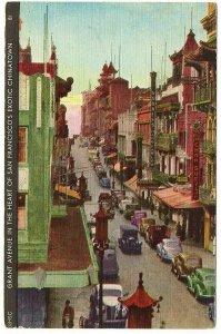 San Francisco California Postcard Grant Avenue Chinatown 1939 Exposition #75720