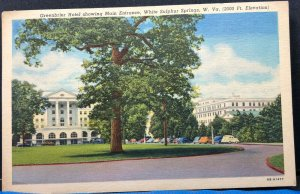 Greenbriar Hotel Sulphur Springs West Virginia 1954 Vintage Postcard
