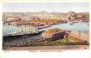 Vista general con el Arsenal Cartagena Spain Unused