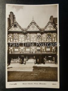 Gloucester Robert Raikes House c1922 RP shops STERRY & MORRIS & GOLDEN ANCHOR